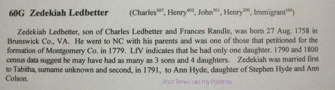 Zedekiah Ledbetter book page